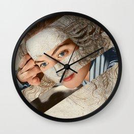 """Leonardo Da Vinci's """"Head of Leda"""" & Ingrid Wall Clock"""