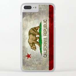 California Republic state flag Vintage Clear iPhone Case