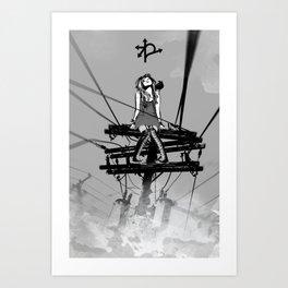 CROSSROAD GUARDIAN - GMB CHOMICHUK Art Print