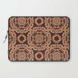Brown decorative pattern Laptop Sleeve