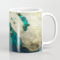 peacock Mugs featuring Peacock by Pauline Fowler ( Polly470 )
