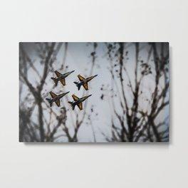 Navy Blue Angels Metal Print