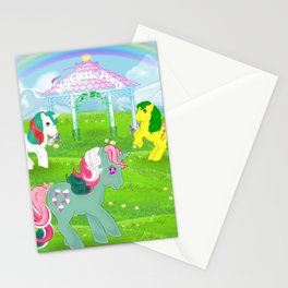 g1 my little pony stylized Fizzy, Gusty and Magic Star Stationery Cards