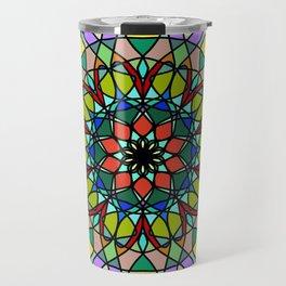 Mandala with art handmade Travel Mug