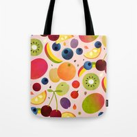 fruit Tote Bags featuring Fruit by Malin Koort