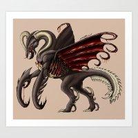 demon Art Prints featuring Demon by Alexiel