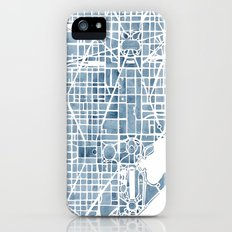 Washington DC Blueprint watercolor map iPhone (5, 5s) Slim Case