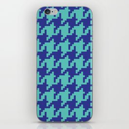 Houndstooth - Blue & Turquoise iPhone Skin