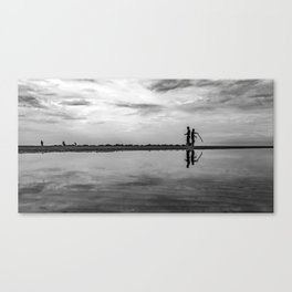 Crab fishing in the morning Canvas Print