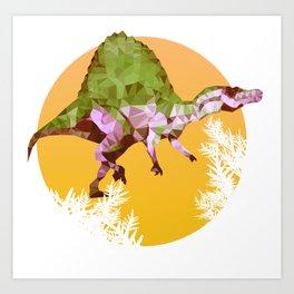 Party Spinosaurus Art Print