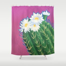 Cactus Blossoms Shower Curtain