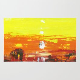 Beautiful Sunset by Australian Artist Vidy Potdar Rug