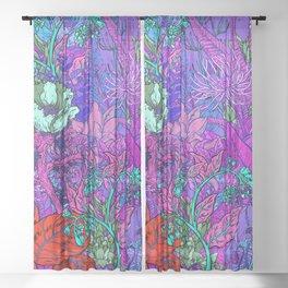 Electric Garden Sheer Curtain