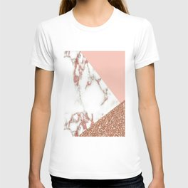 Marble - pink and gold T-shirt