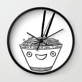 Happy Noodles Wall Clock
