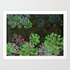 GREEN GARDEN Art Print
