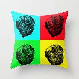 Pop Art Fossil Throw Pillow