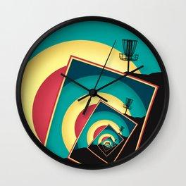Spinning Disc Golf Baskets 2 Wall Clock