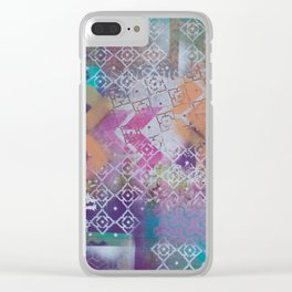 Pink and salmon arrows Clear iPhone Case