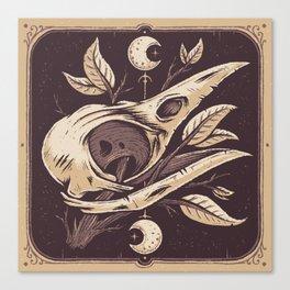 Tarot Crow Canvas Print