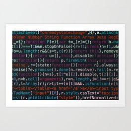 Computer Science Code Art Print