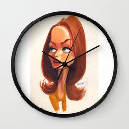 Emily Blunt, caricature. Wall Clock