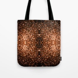Beautiful Bronze Orange Brown glitters sparkles Tote Bag