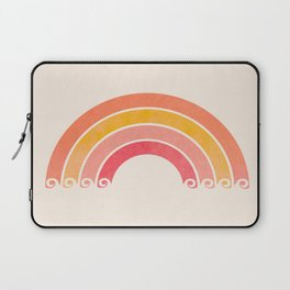 Whimsical Vintage Rainbow Waves Laptop Sleeve