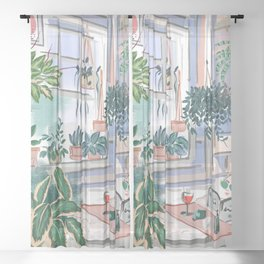 Sunday Self Care Sheer Curtain