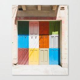 Malta Doors Canvas Print