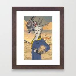 Peggy and ED-E Framed Art Print