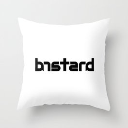 BASTARD ambigram Throw Pillow