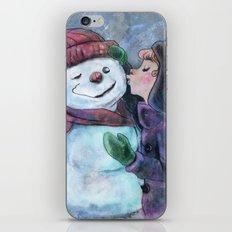 Kiss a snowman iPhone & iPod Skin