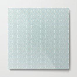 Grey Pastel Geometric Pattern Metal Print