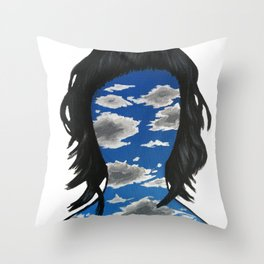 Skyface Throw Pillow