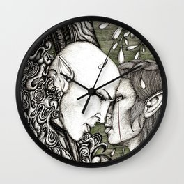 Dread Wolf's lover Wall Clock