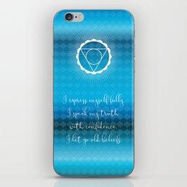 Chakra Series Vishuddha(Fifth Chakra)Affirmation iPhone Skin