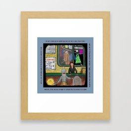 Dry Cleaner Horror Framed Art Print