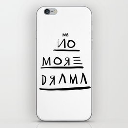 Basquiat No More Drama iPhone Skin