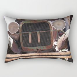 Truck Grill, Old Truck Grill, Vintage, Antique Truck Rectangular Pillow