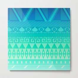 Blue Mayan Metal Print