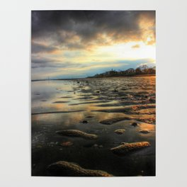 East Beach Sunset Poster