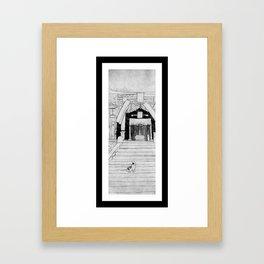 Shrine Cat Framed Art Print