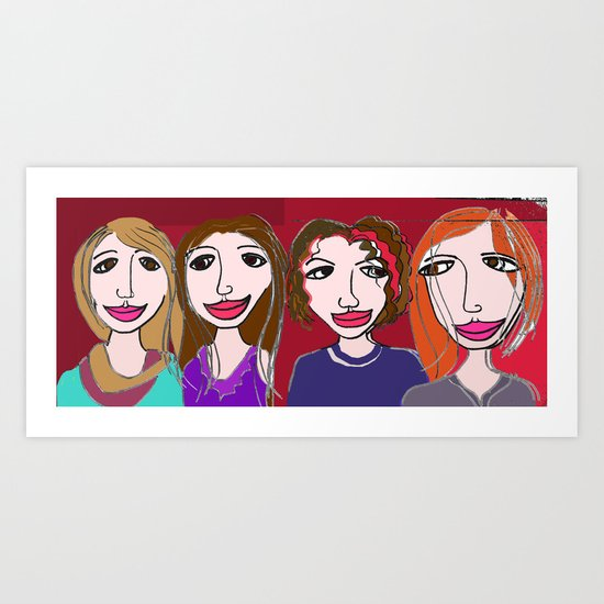 Four Irish Sisters Art Print