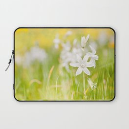 White Ornithogalum nutans pretty bloom Laptop Sleeve