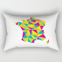 Abstract France Bright Earth Rectangular Pillow