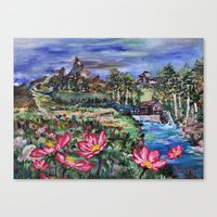 serenity Canvas Prints featuring Serenity by Art of Leki