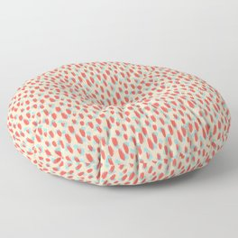 Coral brushstroke abstract art digital painting Floor Pillow