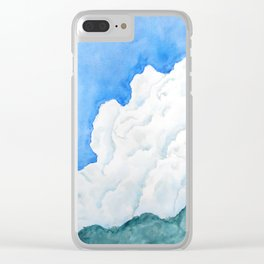 summer cloud watercolor Clear iPhone Case