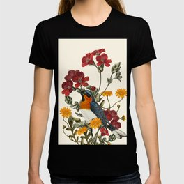 Little Bird and Flowers T-shirt